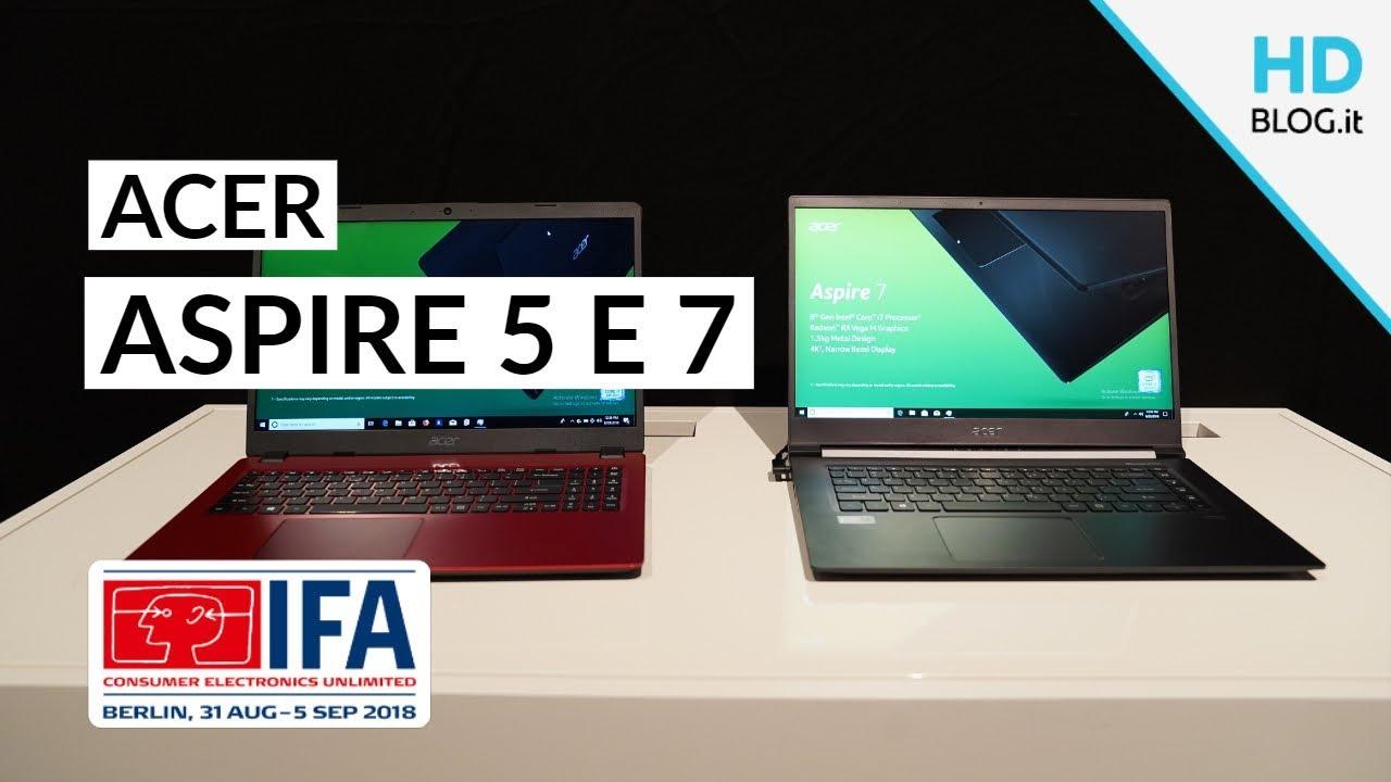 ACER ASPIRE 5 E 7: notebook con Intel Core G e Whiskey Lake
