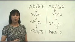 Confused Words - ADVICE & ADVISE
