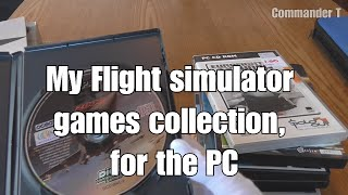 My Flight simulator games collection, for the PC