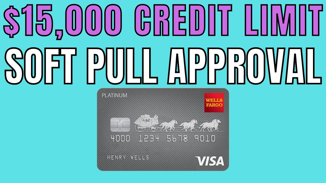 Soft Pull Pre-Approval! $8,8 Wells Fargo Platinum Credit Card