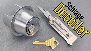 [1244] Schlage Deadbolt OWNED By Lishi Pick/Decoder