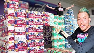 We Built A GIANT Toilet Paper Castle FORT!