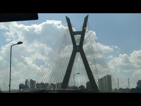 Passeio pela Ponte Estaiada - São Paulo - Brazil - HD