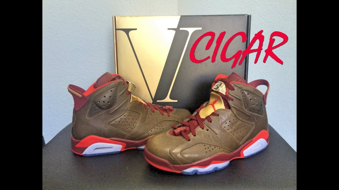 new styles e4666 07c4e Review  16   Air Jordan 6 Retro   Cigar   Celebration Collection    Niclacoste   2014 - YouTube