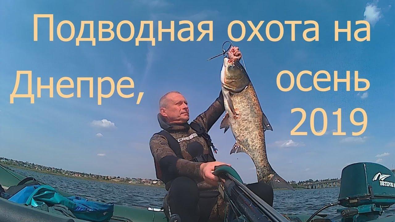 Подводная охота на Днепре, осень 2019