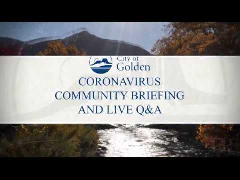 2nd Coronavirus Community Briefing and Live Q & A - March 25