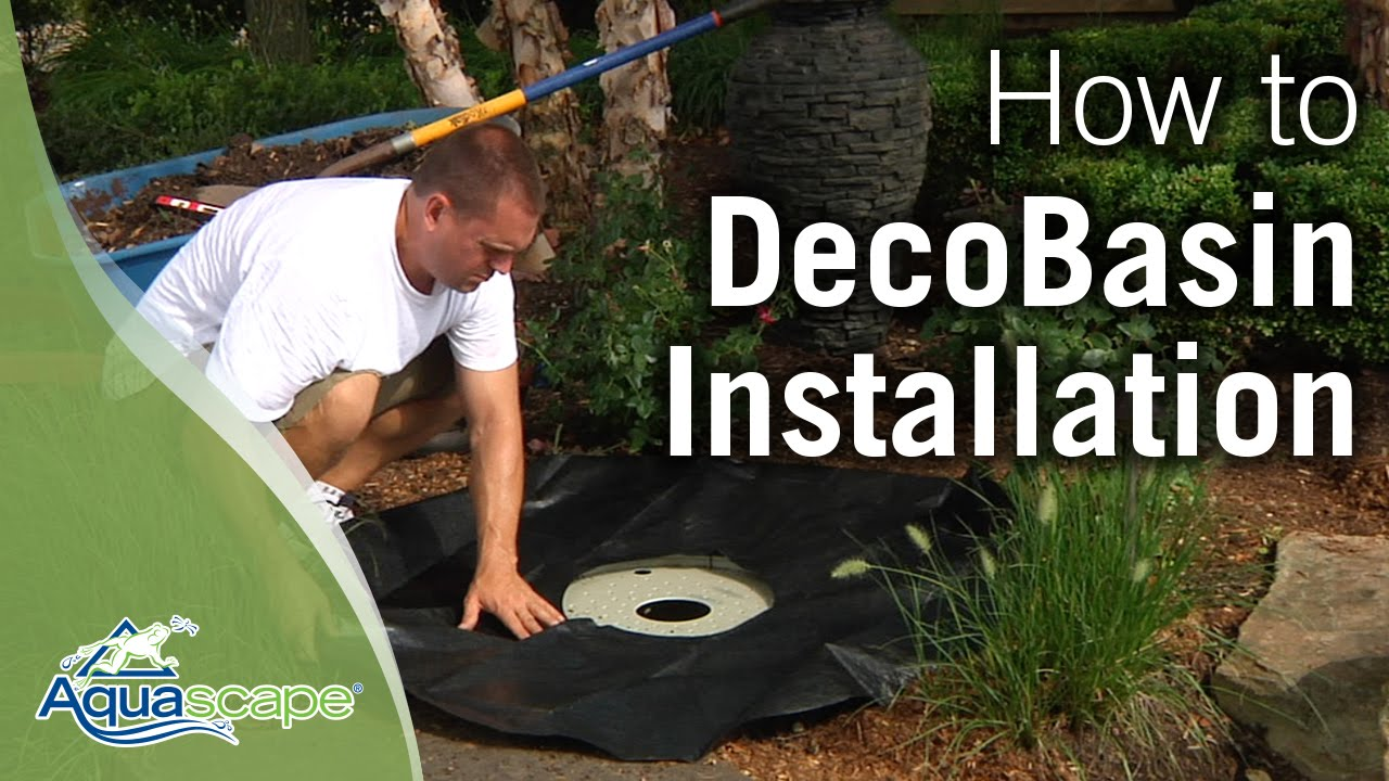 How To Install An Aquascape DecoBasin Fountain Kit   YouTube