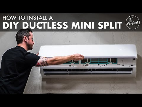 How To Install A DIY Ductless Mini-Split Air Conditioner ❄️ In The Shop