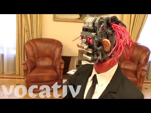 Unsettling Robot Delivers Budget Report In Russia