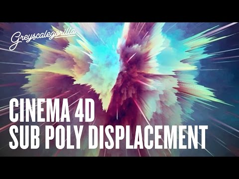 Cinema 4D Displacement Tutorial - ASKGSG - Sub Polygon Displacement Look