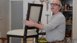 How to Upholster: Outside Back of a Dining Room Chair (part 1)