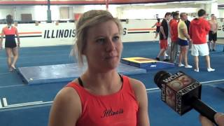 Illini Women's Gym Regionals Reaction, 3/24/14