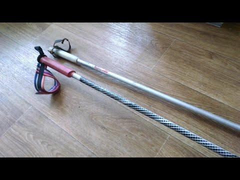 как самому изготовить трекинговые палки для скандинавской (финской) ходьбы из простых лыжных палок