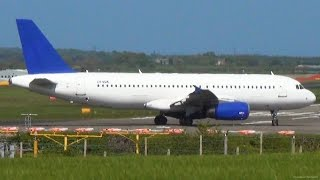 Ex- Cyprus Airways A320-232 Takeoff from Newcastle - Thomas Cook - NCL Plane Spotting