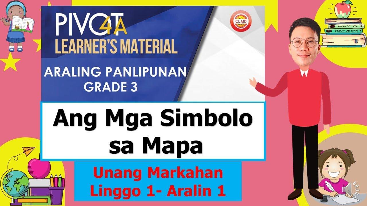 Download ARALING PANLIPUNAN 3   QUARTER 1- WEEK 1   MGA SIMBOLO SA MAPA