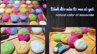 Thuần chay   Cách làm bánh dẻo trung thu từ màu tự nhiên   Natural color Mooncake