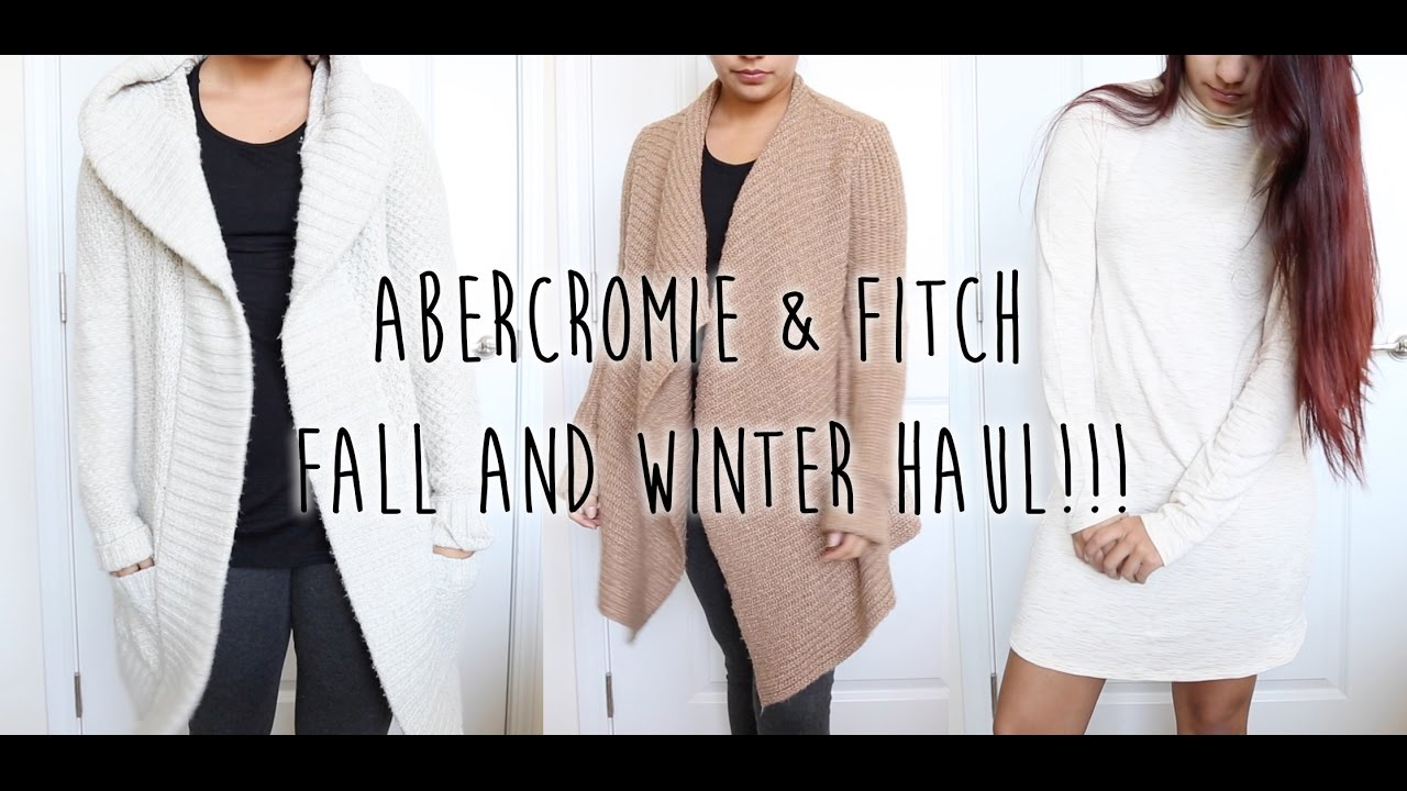 78b89bf7 Abercrombie & Fitch Fall and Winter Haul! Pre-Black Friday Deals ...