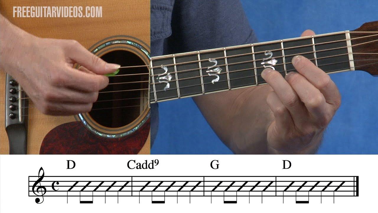 D Cadd9 G Guitar Chord Progression Youtube