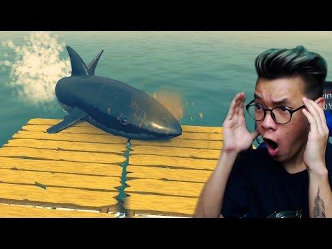 DI SERANG HIU !! | Raft Indonesia Gameplay #1