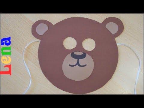 Panda maskesi yapımı (Kalıp olmadan daire şeklindeki nesnelerle)