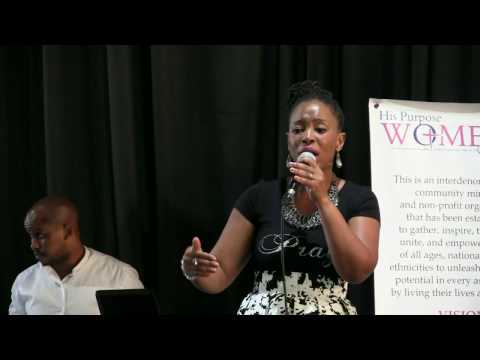 Mrs Nothemba Kula ministering at His Purpose Women's ministry in East London, South Africa