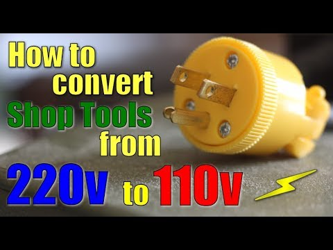 Shop Work How to convert 220v to 110v - YouTube