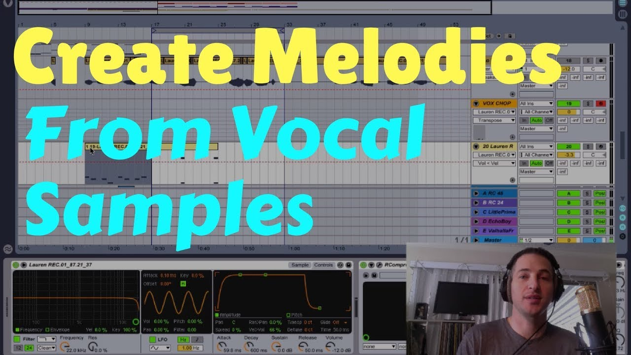 Creating a heavy drop with vocal samples in ableton live 10.