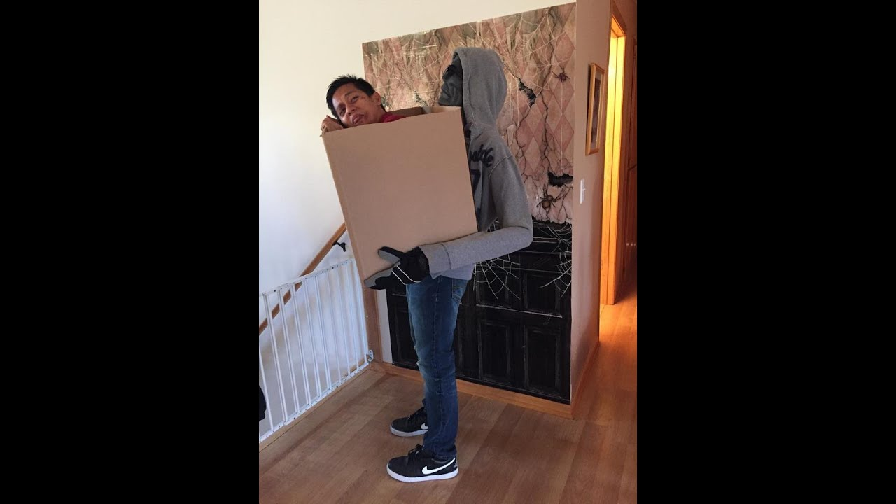 man in the box halloween costume diy 2015 - Halloween Box Costumes