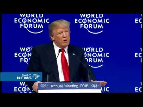 Donald Trump delivers closing address at the World Economic Forum