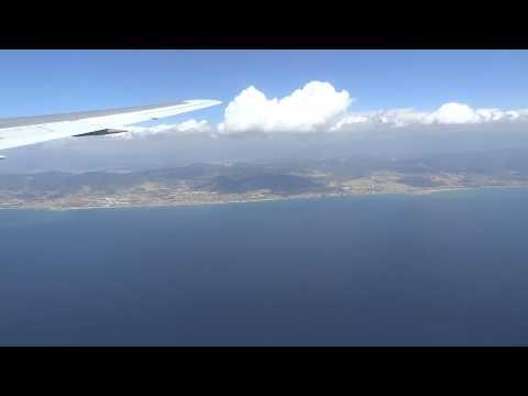 Посадка в Барселоне (Испания) авиакомпания Трансаэро