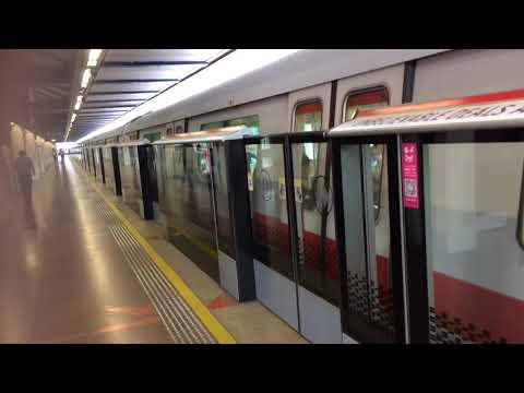 SMRT Trains NSL Siemens C651 221/222 departing Choa Chu Kang (Northbound)