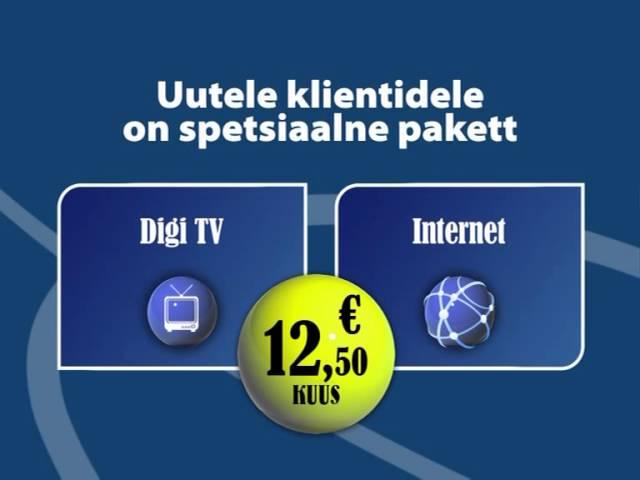 Television + Internet = 12.50 €