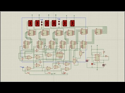 How to make Digital Watch using logic gates