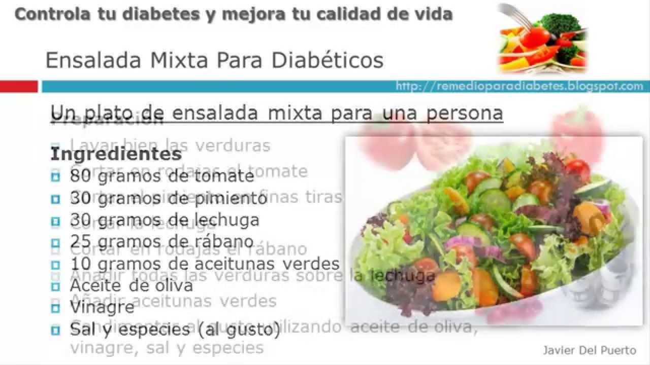 Ensalada mixta para diabeticos - YouTube