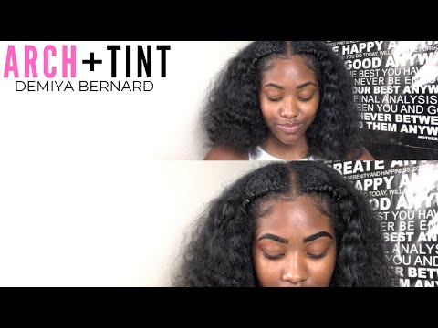MICROBLADING AT HOME?! How I arch + tint my eyebrows with bigen hair dye!