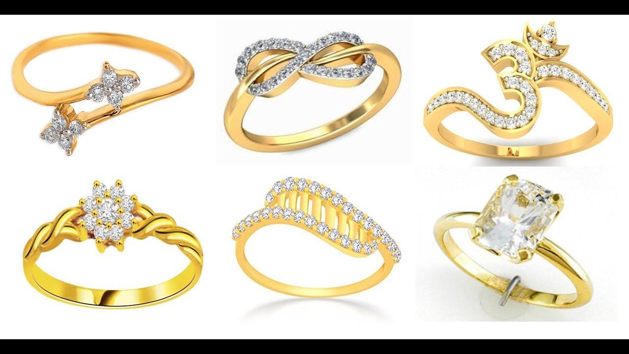 Latest Golden Ring Design For Female 2018 - YouTube