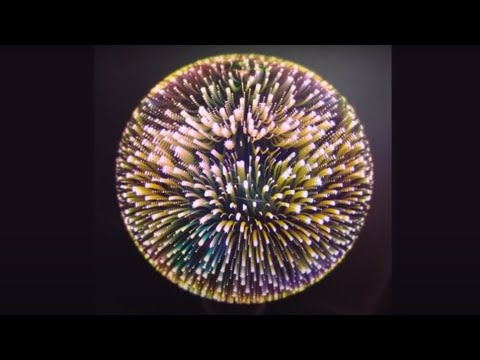 ⭕ E27 3D Fireworks LED Bulb Light COLORFUL