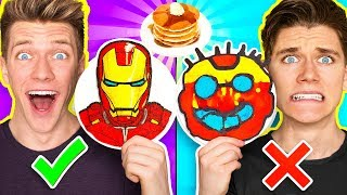 - PANCAKE ART CHALLENGE Mystery Wheel Learn How To Make Avengers Wreck It Ralph 2 Diy Fortnite