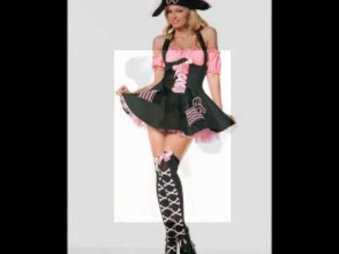 Adult Halloween costumes, sexy witches, pirates, cheerleaders