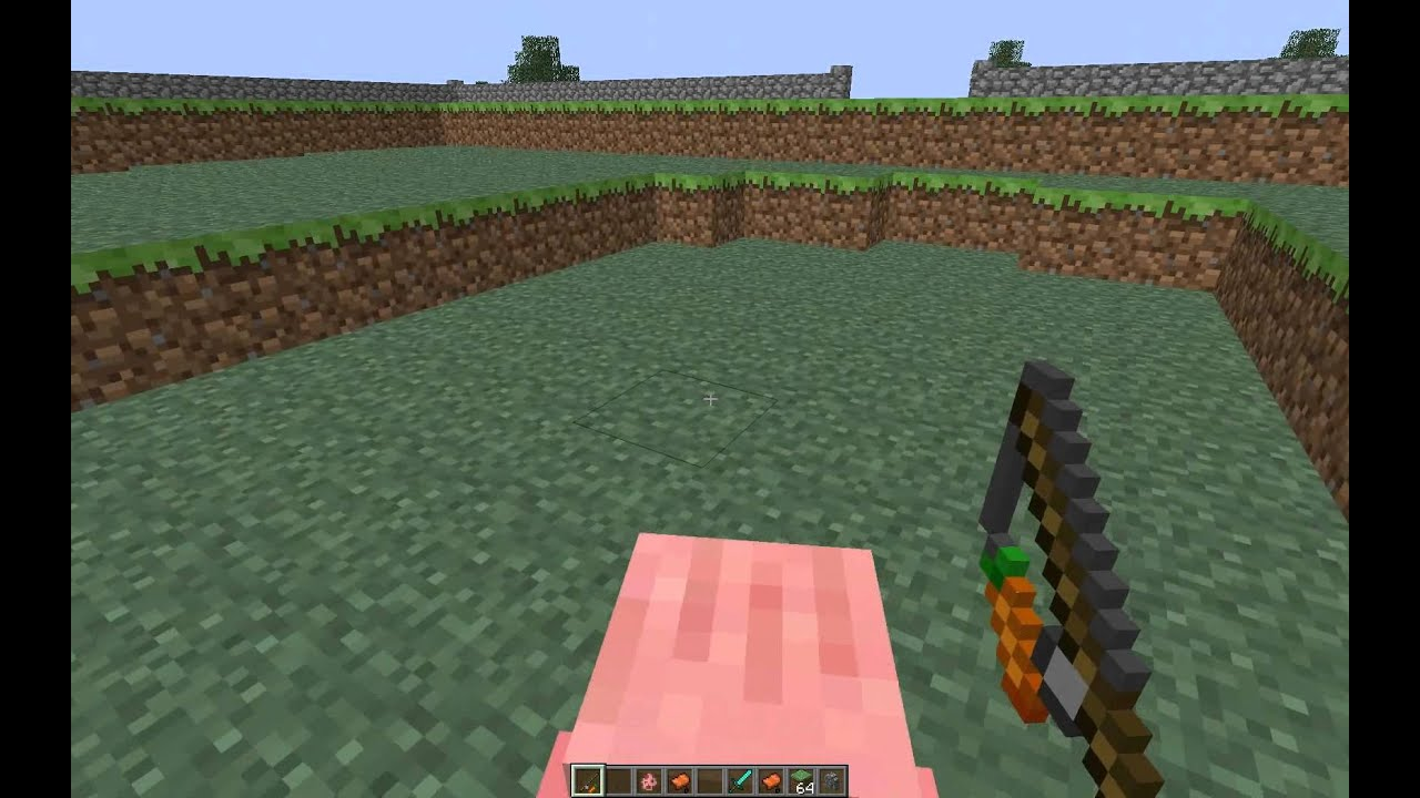 Minute minecraft 007 monter chevaucher un cochon en 1 4 hd youtube - Minecraft cochon ...