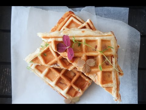 How To Make Ham And Cheese Croissant Waffles - By One Kitchen Episode 406