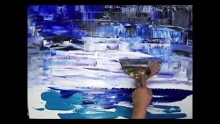 Speed painting demo of an abstract seascape by Tatiana Iliina