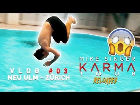 SCHWIMMBAD ZERSTÖRT?! - Mike Singer KTR VLOG #03 - NEU ULM / ZÜRICH