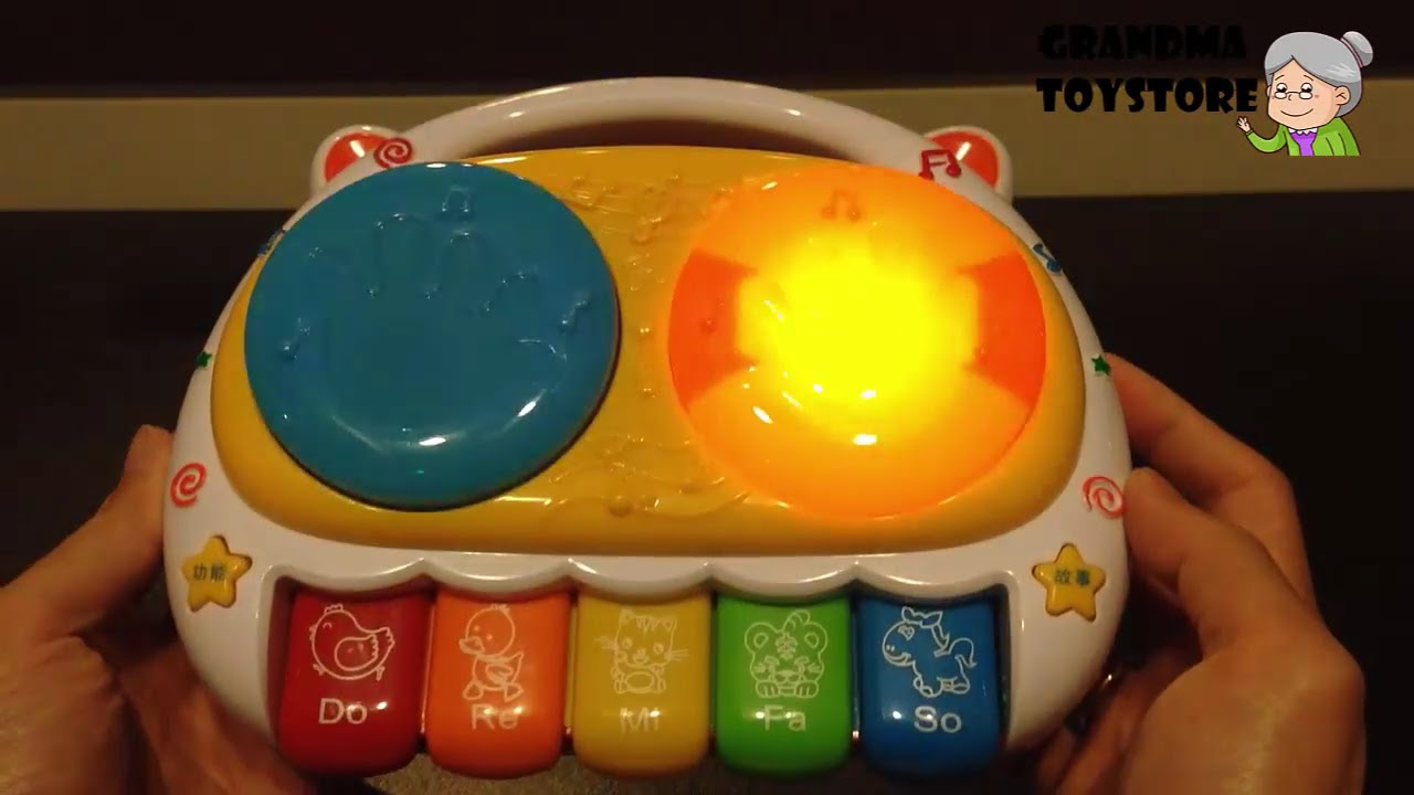 Musical Toys For 1 Year Olds : Unboxing toys review demos bright musical baby toddler touch
