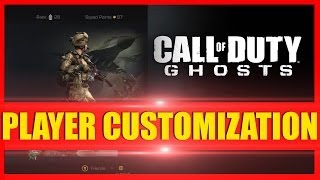 COD Ghosts - How to Customize Characters & Change Backgrounds!