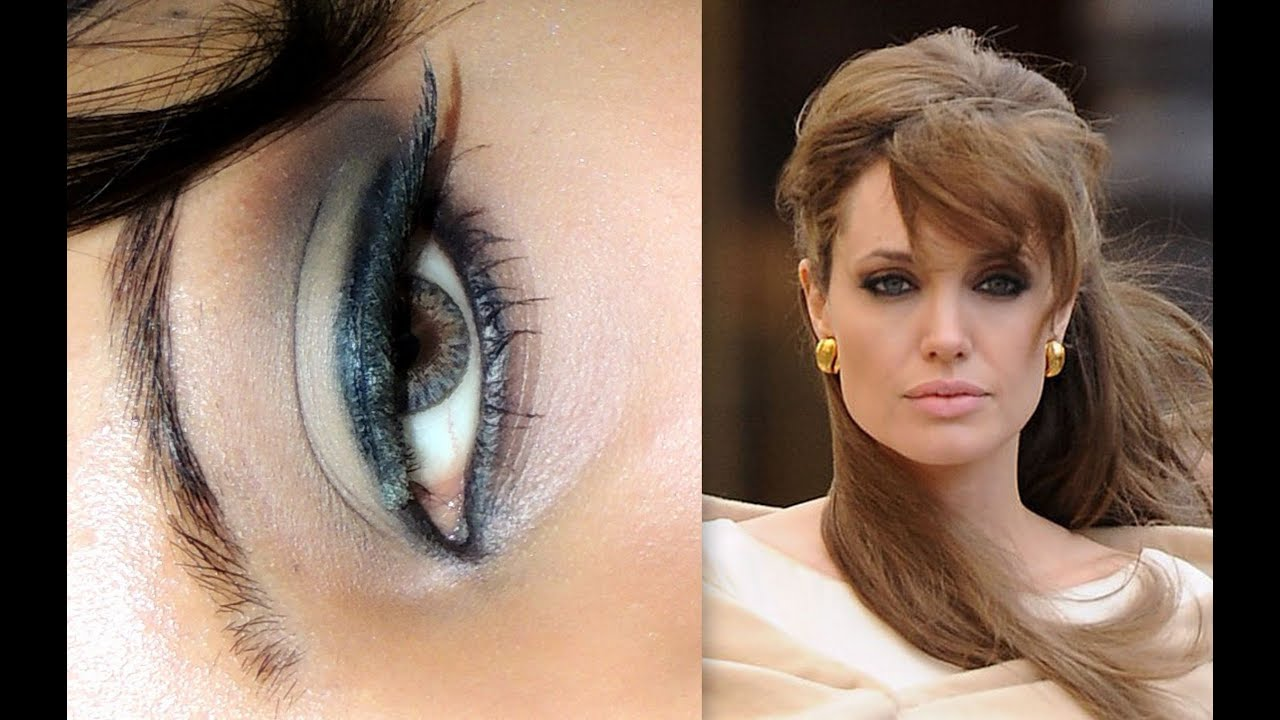 Makeup in the style of Angelina Jolie