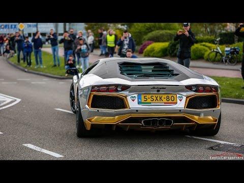 Supercars Leaving Car Meet - Akrapovic Aventador, 991 GT3 RS, Murcielago, Capristo R8,...