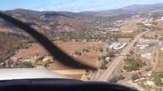 Landing at Ukiah California Airport!