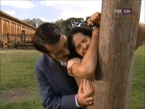 A Escrava Isaura (Record) - Isaura dá Um Chute em Leôncio/Leôncio dá Um Tapa na Cara de Isaura
