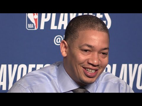 Tyronn Lue on playoff strategy before Game 2, Cavs vs. Pacers